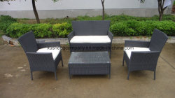 Outdoor Rattan Sofa For Garden With Steel Pipe SGS