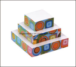 Hot Sale 4 Sides Printing Pyramid Paper Memo Cube Note Cube