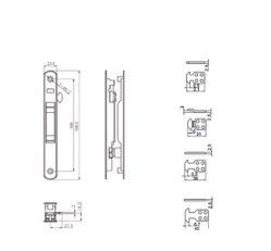 Sliding Door and Window Handle Sliding Latch Lock Accessories-M086