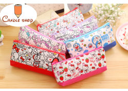 1 PCS Cute Cat PU Leather Pencil Case Pencil Bag Pouch Purse Stationery Escolar School Supplies Students Gift Free Shipping