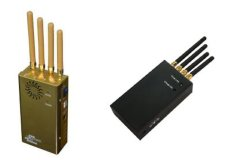 4bands Handheld VHF UHF GSM, WiFi GPS Cellphone Signal Jammer