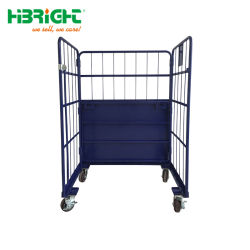 Warehouse Large Rolling Metal Wire Cage Storage Cage Container