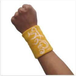 Sedex Audit Wholesale Custom Sports Basketball Wrist Sweatband Wrist Support Wristband with Your Own Embroidered Logo