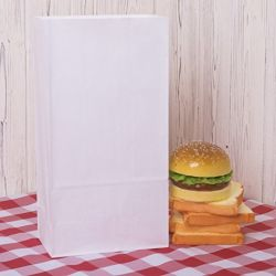 Paper Lunch Bags Durable White Kraft Paper Bags
