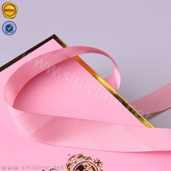 Sun Nature Satin Ribbon Handle Remy Hair Extension Pink Shopping Bag