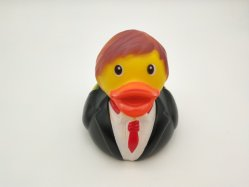 Groom Shape Black Rubber Duck