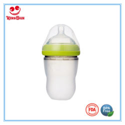 Ultra Wide Neck Silicone Baby Feeding Bottle 220ml