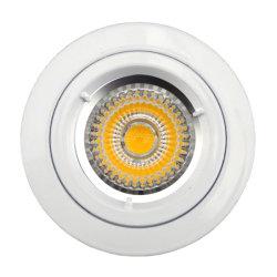 Die Cast Aluminum GU10 MR16 G5.3 Round Fixed White Recessed Halogen LED Lamp (LT1100)