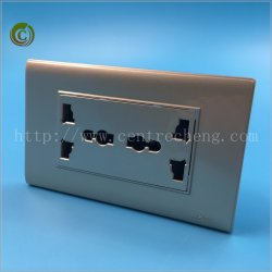 Wall Switch Socket Double 3 Pin