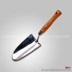 Stainless Steel Garden Hand Tools Manufacturer Ash Wooden Handle Digging Trowel
