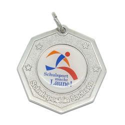 Fashion Antique Silver Metal Half Marathon Running Medal Display Decoration