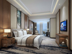 Chinese Wooden Luxury Hotel Standard Bedroom Furniture (GN-HBF-66)