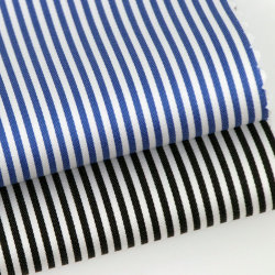Ready Stock Blue And Black Egyptian Striped Cotton Fabric Suppliers
