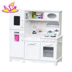 New Arrival Pretend Play White Wooden Large Toy Kitchen For Kids W10c409