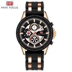 Mini Focus Custom Logo Shenzhen Manufacturer Men Mechanical Wrist Watch with Silicone Band