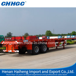 Chinese Flatbed Semi Trailer Trucks, Flat Track Container, Welding Trailers for Sale