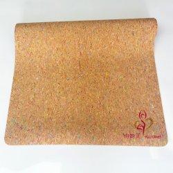 Eco Friendly Soft Natural Rubber Base Custom Cork Yoga Mat
