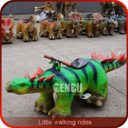 17 2kw And 12 Persons Amusement Parks Rides Dinosaur Around Carnival Park Equipment