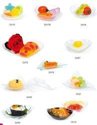 Tableware Plastic Disk Disposable Saucer Mini Pan Shaped Dish