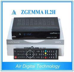 Terrestrial and Satellite Receiver Zgemma H. 2h DVB-S2 DVB-T2/C Suporting IPTV HD PVR SD Card