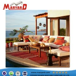 Customized Sofa Set With Teak Wood Leisure Outdoor Furniture With Quick Dry Foam  Cushion