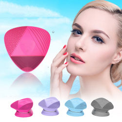 Skin Care Electric Facial Cleaning Massage Brush, Sonic Face Washing Machine, Waterproof Silicone Face Cleanser