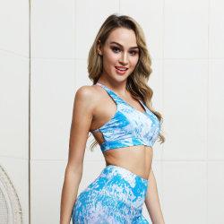 Halter Sports Suit Print Fitness Suit Seamless Yoga Set Sexy Sports Bra Woman Workout Sportswear Tracksuit Women Gym Clothing