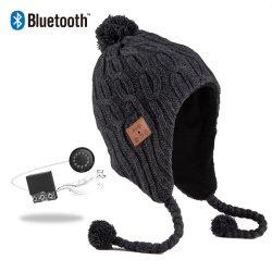 Bluetooth 4.2 Wireless Smart Beanie Headset Musical Knit Headphone Speaker Hat Speakerphone Cap Built-in Mic
