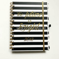 Spiral Hardcover Notebook with Custom Diary and Address Design