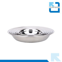 Anti-Spill Round Shape 201 Stainless Steel Dinner Soup Plate u0026 Dish Plate  sc 1 st  Made-in-China.com & China Steel Dish Plate Steel Dish Plate Manufacturers Suppliers ...