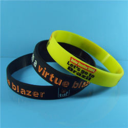 """Customized 1/2"""" New Design High Quality Solid Color Debossed Color Filled Silicone Bracelets with Free Samples"""
