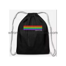 Factory Sale 35 X 45 Cm Polyester Travel Sports Gym School Fashion Gift Custom Logo Drawstring Bag