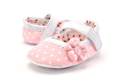 Wholesale Flower Design Single Laces Soft Soles Shoes Indoor Toddler Baby Shoes