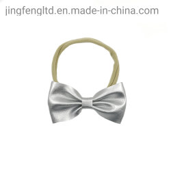 Baby Nylon Elastic Headband with Glitter Bow Children Baby Nylon Headwear with Gold and Silver Bows Infant Hair Accessory