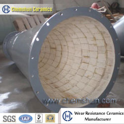 Wear Resistant Alumina Ceramic Lined Composite Steel Pipe for Bulk Solids Handling