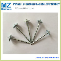 9gx2.5'' Umbrella Head Roofing Nails with Smooth / Twist Shank