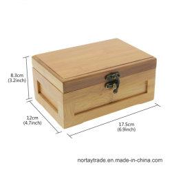 Bamboo Two-Layer Box Bamboo Storage Case