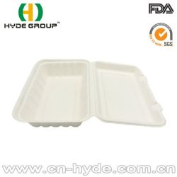 9''*6'' Wholesale Biodegradable Clamshell Food Packing