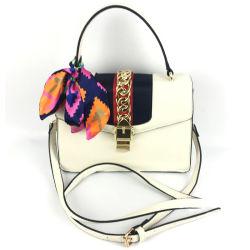 European Designer Inspired Contrast Color Scarf Handbags