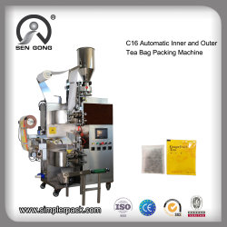 Flat Tea Bag Packaging Machine with Inner and Outer Bag