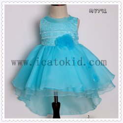 01bab51896b European Style Girls Puffy Evening Dress Flowers Kids Formal Evening Party  Wear Dress