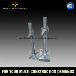 Building Material Scaffold Flat Base Jack Solid
