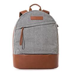 Wholesale Price Lattice Fabric Leather School Laptop Backpack Bag b9e9790b1b0e0