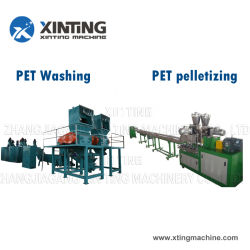 Waste Pet/HDPE/LDPE/PP/PE Bottles Films Woven Bags Plastic Recycling Pelletizing/Granulator/Granulation/Flakes Scrap Crushing Washing/Squeezing Shredder Machine