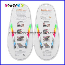 Promotion Gifts Sports Good-Bye Tie Silicone Flat Shoelaces