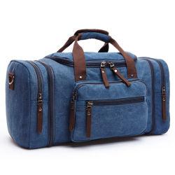 Vintage Canvas Weekender Duffel Bag Sports Bag with Shoulder Strap