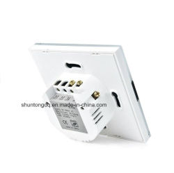 Work with Echo Alexa/Google Home, UK Standard 1 Gang Wireless WiFi Control Light Switch, Wall Touch Switch, APP Phone Remote,