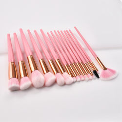 Makeup Tools Brushes Kit High Quality Professional 10PCS Brushes Pink Wood Handle with Synthetic Hair