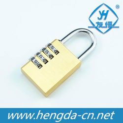 Yh1234 Competitive Price Solid Brass 4 Digits Passwords Combination Padlock
