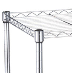 5 Tiers Commercial Chrome Metal Wire Shelving Rack Wire Shelf